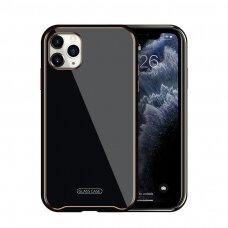 Iphone 11 dėklas Glass Case stiklas+tpu juodas