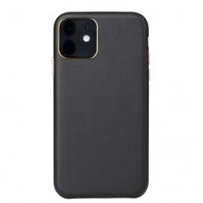 Iphone 12 pro max dėklas Leather Case odinis juodas