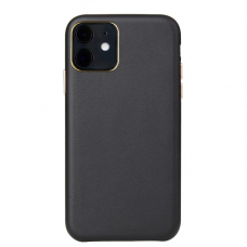 Iphone 12 dėklas Leather Case odinis juodas