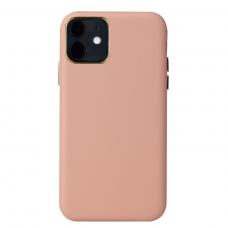 Iphone 12 dėklas Leather Case odinis rožinis