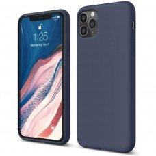 Iphone 11 pro  dėklas Liquid Silicone tamsiai mėlynas