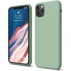 Iphone 11 pro dėklas Liquid Silicone ŽALSVAS / MĖTINIS