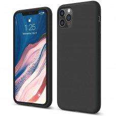 Iphone 11 pro max dėklas Liquid Silicone juodas