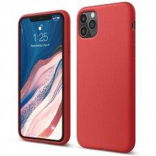 AKCIJA! Iphone 11 pro dėklas Liquid Silicone raudonas
