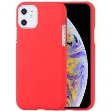 iphone 11 DĖKLAS MERCURY JELLY SOFT SILIKONINIS raudonas