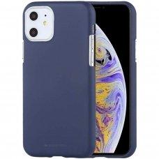iphone 11 DĖKLAS MERCURY JELLY SOFT SILIKONINIS tamsiai mėlyna
