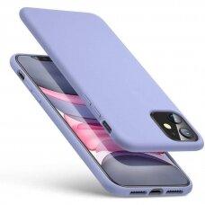 Akcija! Iphone 11 pro dėklas MERCURY SILICONE levandos spalvos