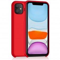 Iphone 11 dėklas Silicone Case Soft silikonas raudonas