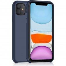 Iphone 11 dėklas Silicone Case Soft silikonas tamsiai mėlynas