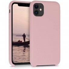 Iphone 11 pro max dėklas Silicone Case Soft silikonas rožinis
