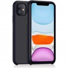 Akcija! Iphone 11 pro max dėklas Silicone Case Soft silikonas juodas