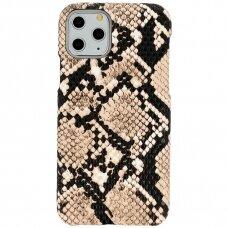 Iphone 11 dėklas su gyvatės rašto imitacija Vennus WILD smėlinis