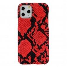 Iphone 11 Pro dėklas su gyvatės rašto imitacija Vennus WILD raudonas