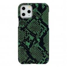 Iphone 11 dėklas su gyvatės rašto imitacija Vennus WILD žalias