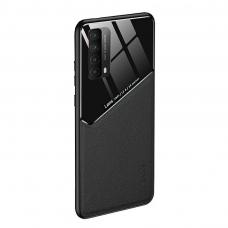 huawei p smart 2021 dėklas su įmontuota metaline plokštele LENS case juodas