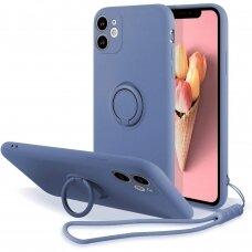 iphone 11 dėklas su magnetu Pastel Ring Mėlynas