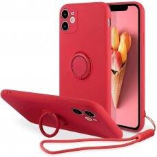 iphone 11 dėklas su magnetu Pastel Ring Raudonas