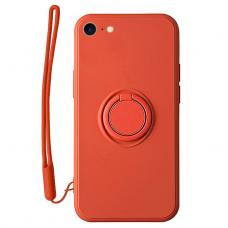 iphone SE 2020/ 7/ 8 dėklas su magnetu Pastel Ring Raudonas