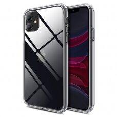Iphone 11 dėklas X-Level Space PC plastikas+TPU skaidrus