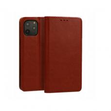 iphone 11 pro max natūralios odos dėklas Book Special rudas