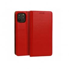 iphone 11 pro max natūralios odos dėklas Book Special raudonas