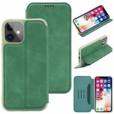 iphone 11 pro atverčiamas dėklas SMART VINTAGE žalias