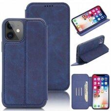 iphone 11 pro atverčiamas dėklas SMART VINTAGE mėlynas