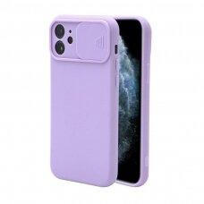 Iphone 12 pro max dėklas CAMERA Protect violetinė
