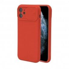 Iphone 12 Pro max dėklas CAMERA Protect raudonas