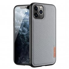 iphone 12 pro max dėklas Dux ducis Fino dengtas austu nailonu pilkas