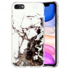 iphone SE 2020 dėklas GLITTER MARBLE silikonas 2