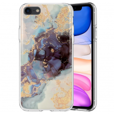 iphone SE 2020 dėklas GLITTER MARBLE silikonas 3