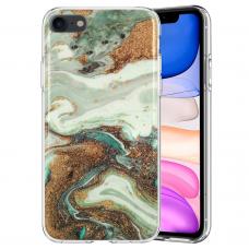 iphone SE 2020 dėklas GLITTER MARBLE silikonas 5