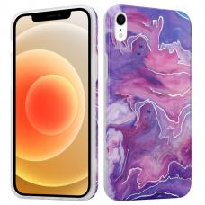 Iphone XR dėklas MX MARBLE silikonas rožinis