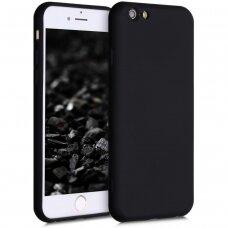 iphone se 2020 dėklas SOLID SILICONE juodas