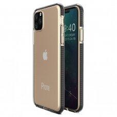 Iphone 11 pro dėklas Spring Case  TPU  skaidrus juodais kraštais