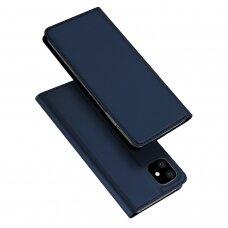 Iphone 11 pro max atverčiamas dėklas DUX DUCIS dėklai Skin Pro tamsiai mėlynas eko oda