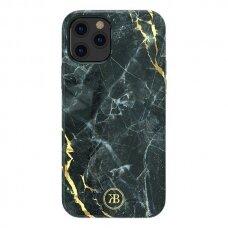 Akcija! Iphone 12 mini dėklas Kingxbar Marble juodas