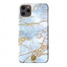 Akcija! Iphone 11 dėklas Kingxbar Marble baltai melsvas
