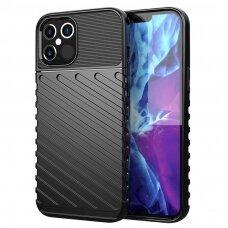 iphone 12 mini dėklas THUNDER SILICON TPU juodas