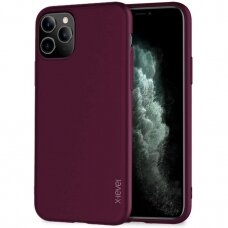 IPHONE 11 pro max DĖKLAS X-LEVEL GUARDIAN 0,6MM SILIKONAS bordo
