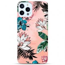 """Iphone 11 Pro max TPU dėklas unikaliu dizainu 1.0 mm """"u-case Airskin Flowers 1 design"""""""