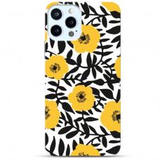 """Iphone 11 Pro max TPU dėklas unikaliu dizainu 1.0 mm """"u-case Airskin Flowers 2 design"""""""