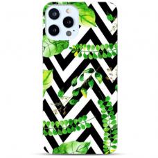 """Iphone 11 Pro max TPU dėklas unikaliu dizainu 1.0 mm """"u-case Airskin Leaves 2 design"""""""