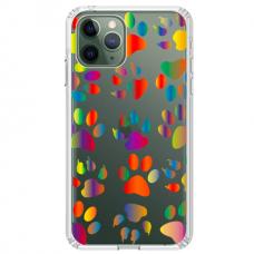 """Iphone 11 Pro silikoninis dėklai su paveikslėliu 1.0 mm """"tavotel PAW design"""""""