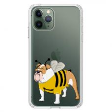 """Iphone 11 Pro TPU dėklas unikaliu dizainu 1.0 mm """"u-case Airskin Doggo 1 design"""""""