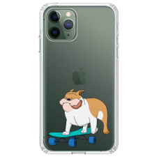 """Iphone 11 Pro TPU dėklas unikaliu dizainu 1.0 mm """"u-case Airskin Doggo 2 design"""""""