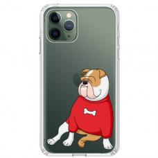 """Iphone 11 Pro TPU dėklas unikaliu dizainu 1.0 mm """"u-case Airskin Doggo 5 design"""""""