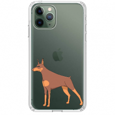 "Iphone 12 Pro TPU dėklas unikaliu dizainu 1.0 mm ""u-case Airskin Doggo 6 design"""