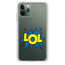 "Iphone 12 Pro TPU dėklas unikaliu dizainu 1.0 mm ""u-case Airskin LOL design"""